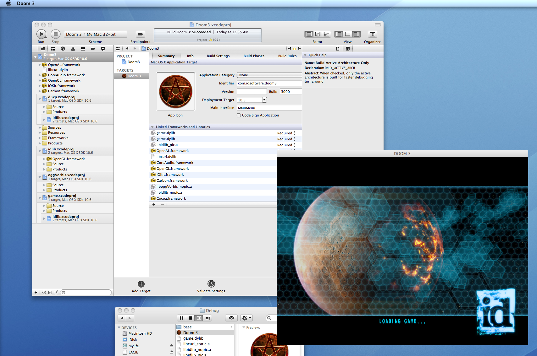 Doom3 compilation instructions for Mac OS X