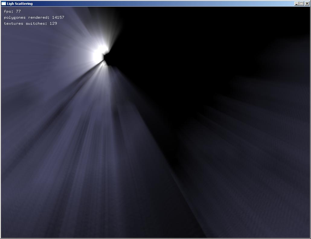 Light scattering with openGL shader