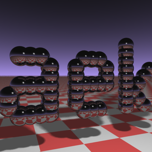 Andrew Kensler's business card raytracer